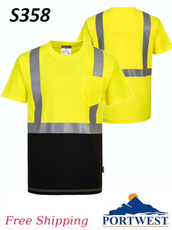 Portwest S358,Nashville Two-Toned T-Shirt, FREE SHIPPING/$ per Shirt