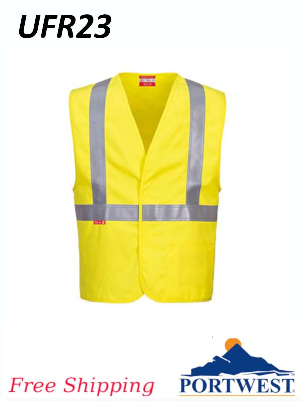 Portwest UFR 23, Hi-Vis NFPA 2112 Woven Vest, Class 2/SHIPPING INCLUDED/$ per Vest