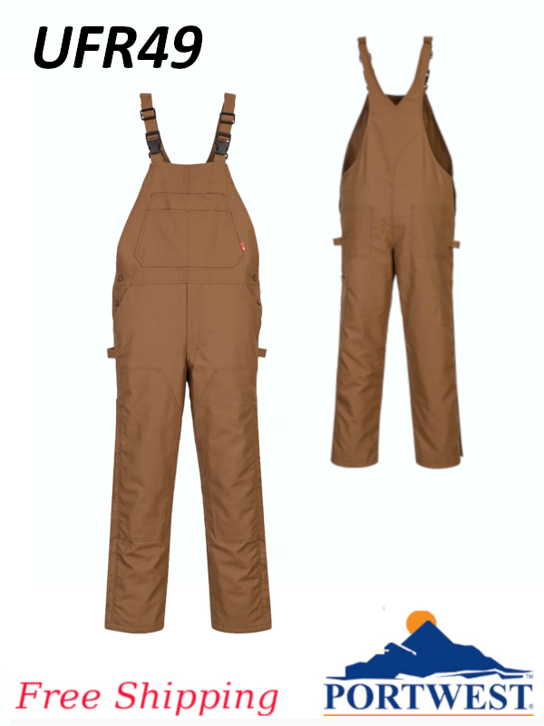 Portwest UFR49, FR Duck Quilt Lined Overall/FREE SHIPPING/$ per Overall