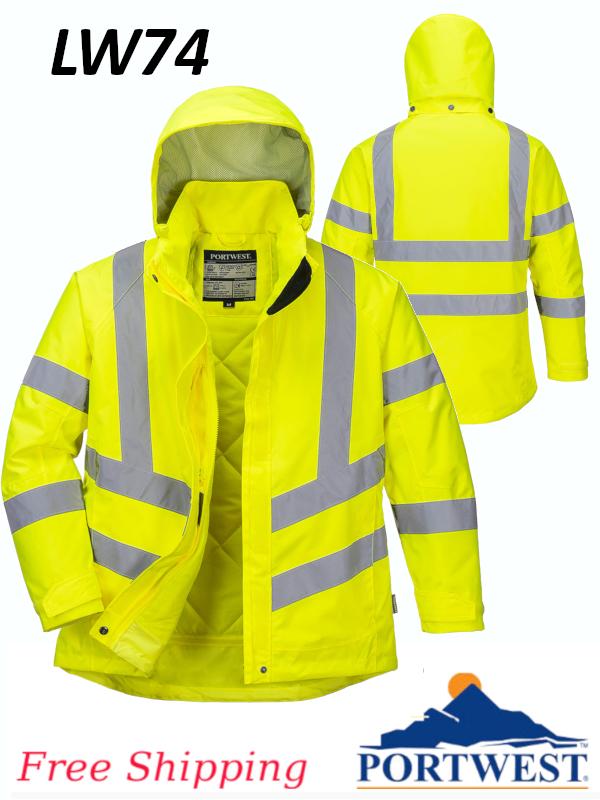 Portwest LW74, Ladies Hi-Vis Winter Jacket, Class 3/FREE SHIPPING/$ per Jacket