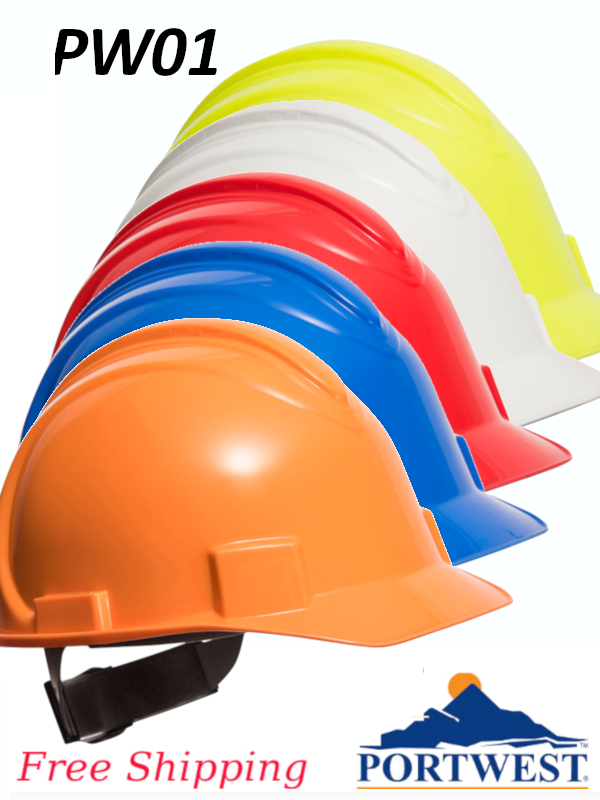 Portwest PW01, Safety Pro Hard Hat/FREE SHIPPING/$ per Hard Hat