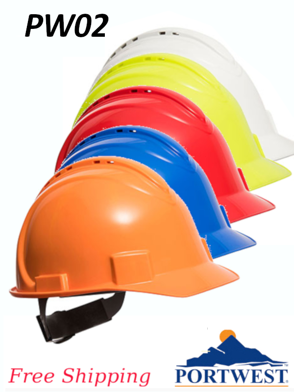 Portwest PW02, Safety Pro Hard Hat Vented/FREE SHIPPING/$ per Hard Hat