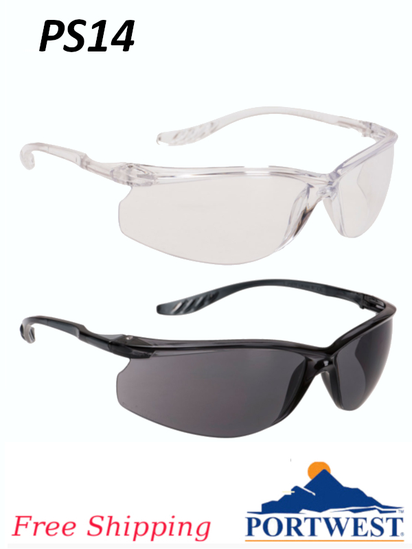 Portwest PS14, Lite Plus Safety Glasses/FREE SHIPPING/$ per Pair