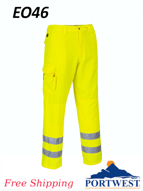 Portwest EO46, Hi-Vis Cargo Pants/FREE SHIPPING/$ per Pair