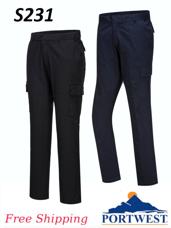 Portwest S231, Stretch Slim Combat Pants/FREE SHIPPING/$ per Pair