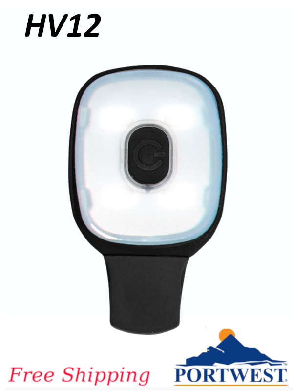 Portwest HV12, USB Rechargeable Light Clip/FREE SHIPPING/$ per Each