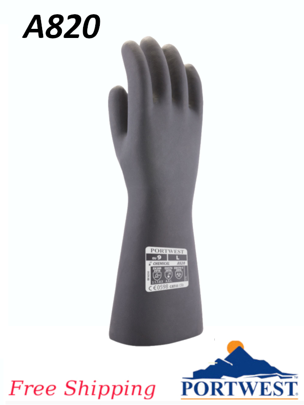 Portwest A820, Neoprene Chemical Gauntlet/FREE SHIPPING/$ per Pair