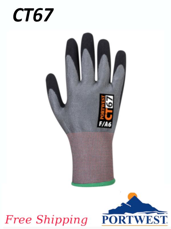 Portwest CT67,  CT AHR Nitrile Foam Glove/FREE SHIPPING/$ per Pair