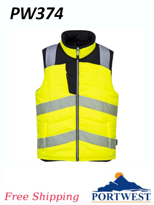 Portwest PW374, PW3 Hi-Vis Reversible Vest/FREE SHIPPING/$ per Vest