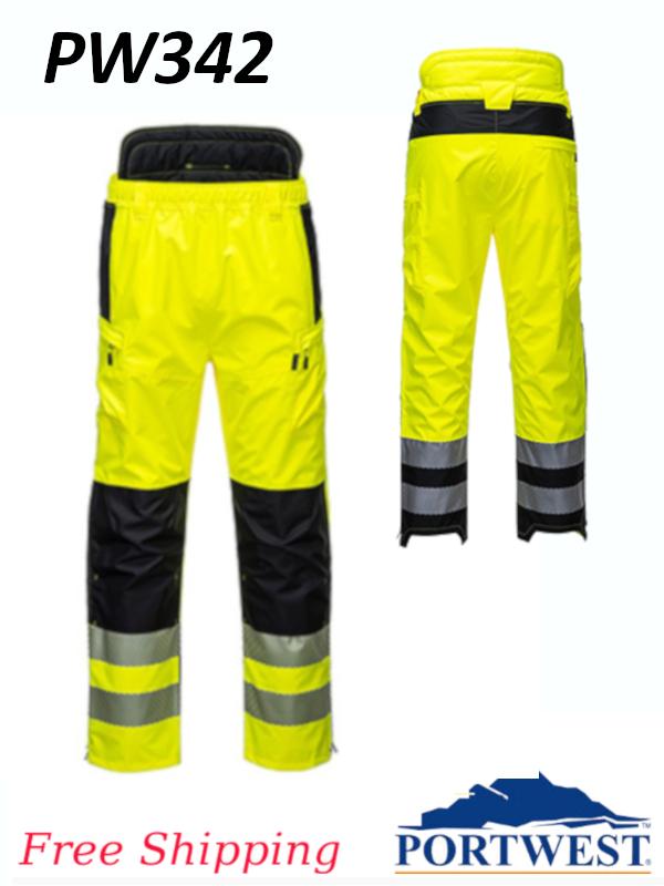 Portwest PW342,  PW3 Hi-Vis Extreme Rain Pants/$ per Pair