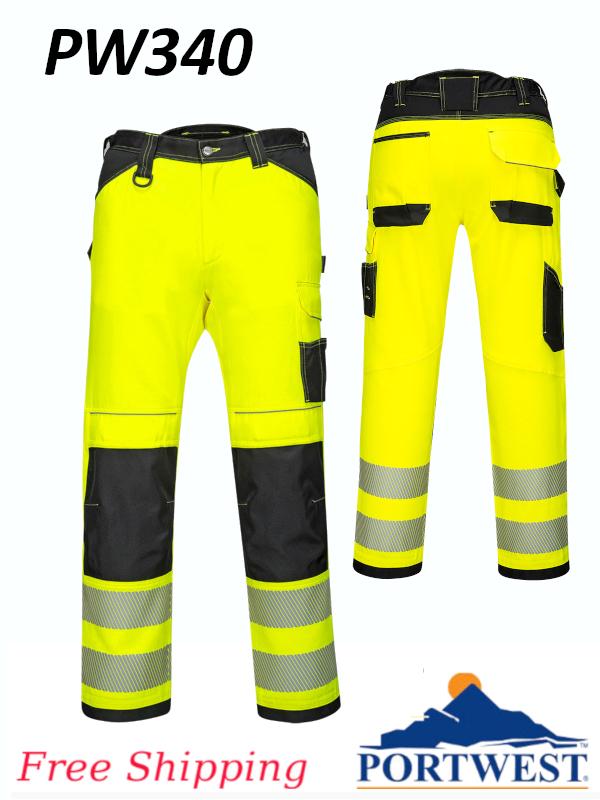 Portwest PW340,  PW3 Hi-Vis Work Pants/$ per Pair