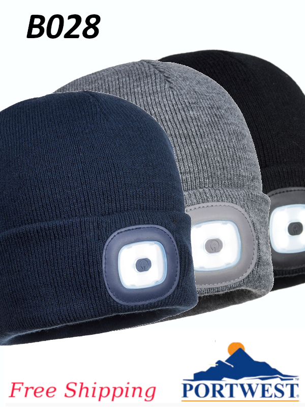Portwest B028, Rechargeable Twin LED Beanie/FREE SHIPPING/$ per Each